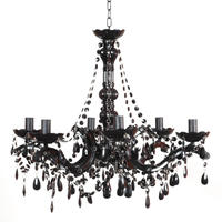 Buttress 06-arm Black Chandelier