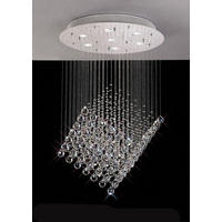 Cube Floating Crystal Pendant Chandelier
