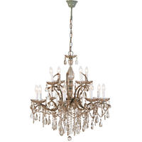 Valeria Smoked Glass 2 Tier Chandelier