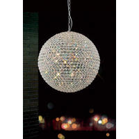 Diamonds R Forever Large Crystal Ball Chandelier