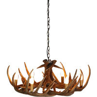 Wilderness 6 Arm Antler Chandelier