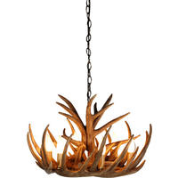 Wilderness Tall 6 Arm Antler Chandelier