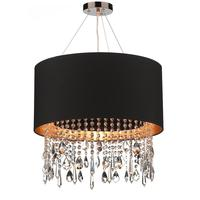 Ripley Black & Gold Shade Pendant Chandelier