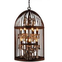 Antique Bronze Bird Cage Chandelier