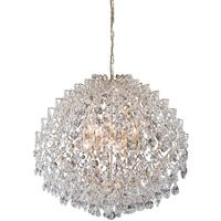 Bellissimo Large 24K Gold Plated Crystal Ball Chandelier