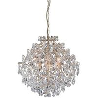 Bellissimo Medium 24K Gold Plated Crystal Ball Chandelier