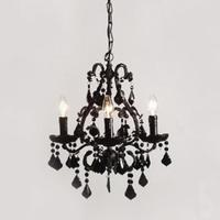 Ornate Black Chandelier