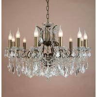 Large Shallow Twelve Arm Chandelier