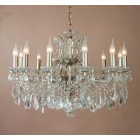 Large Gold Shallow Chandelier