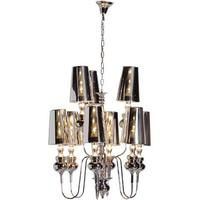 Extra Large Shaded Chrome Chandelier
