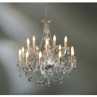 Mariah Large 14 Arm Clear Glass Chandelier