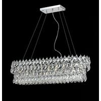 Oblong Crystal Chandelier Pendant
