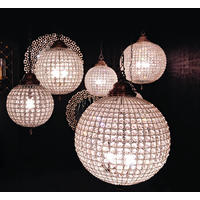 Globe Crystal Chandelier  With Pewter Finish from Out There Interiors