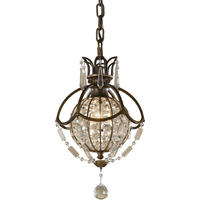 Paris Mini Antique Bronze Crystal Ball Chandelier