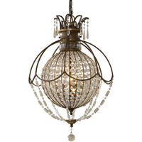 Paris Antique Bronze Crystal Ball Chandelier