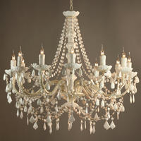 Fifi Vintage Style 12 Arm Chandelier - White