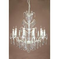 Caprice White 12 Arm Chandelier