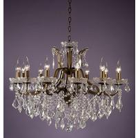 Adele Lighter Bronze Chandelier - 12 Arm