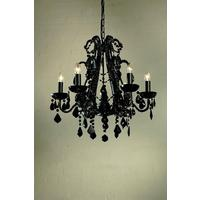 Antoinette Black 6 Arm Chandelier