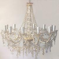 Fifi Ivory Vintage Style 12 Arm Chandelier