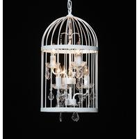 White Bird Cage Chandelier