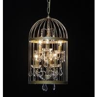 Gold Bird Cage Chandelier