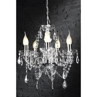 CARAT - design chandelier clear 5 lights french shabby chic