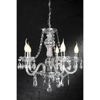 CARAT L - large 55cm design chandelier clear 5 lights french shabby chic