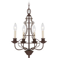 Venezia Antique Bronze 4 Arm Wire Chandelier
