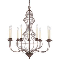 Venezia Antique Bronze 9 Arm Wire Chandelier