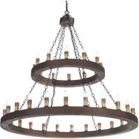 Valhalla 36 Light Wooden Chandelier