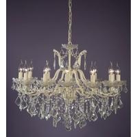 Adele 12 Arm Crackled Cream Chandelier