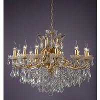 Adele Yellow Gold 12 Arm Chandelier