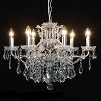 Adele Antique Silver 6 Arm Chandelier