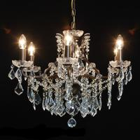 Adele Antique Bronze 6 Arm Chandelier