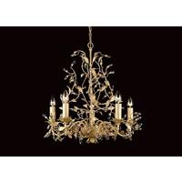 Esmeralda 5 Arm Cream Gold Leaf Chandelier