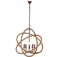 Viscount Iron & Rope Chandelier