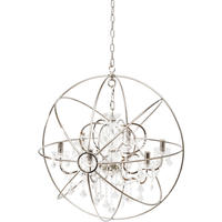 Chesterford Large Nickel Globe Chandelier