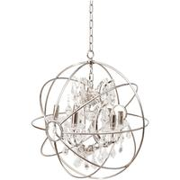 Chesterford Small Nickel Globe Chandelier