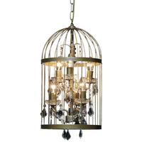 Small Birdcage Chandelier in Gold - Clearance