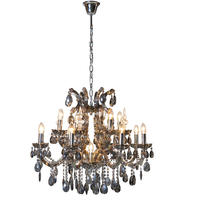 Bardot Large Smoked Glass Chandelier
