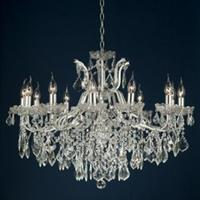 Adele Distressed Silver 12 Arm Chandelier