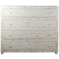 Cream bone inlay chest with four drawers