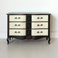Black French Chest With Contrasting Cream Drawers