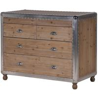Alpine Chic Wood and Metal Chest