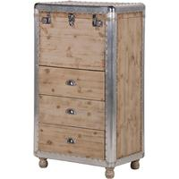 Alpine Chic Wood and Metal Tallboy
