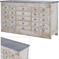 Industrial Multi Drawer Zinc Chest
