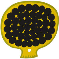 Marimekko - Kompotti Yellow/Green/Black Chopping Board