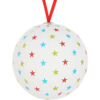 House by John Lewis Decoupage Star Bauble