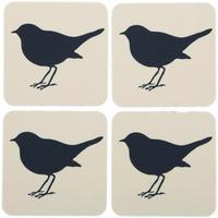 Anorak - Set of 4 Coasters - Kissing Robins